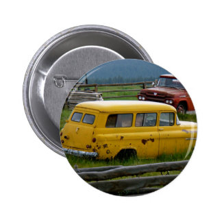 Old Yellow Car Button