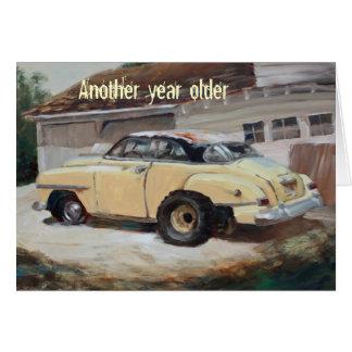 Old Yellow Car Card