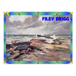 OLD YORKSHIRE - FILEY BRIGG POSTCARD