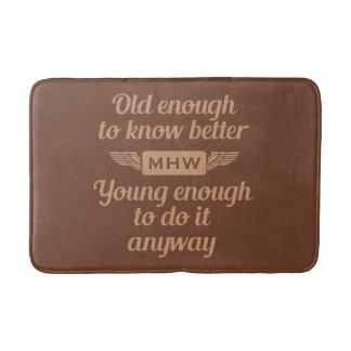"""Old & Young"" custom monogram bath mats"