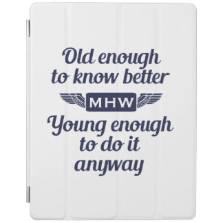 """""""Old & Young"""" custom monogram device covers iPad Cover"""