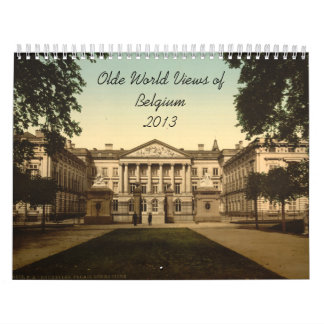 Olde World Views Belgium 2013 Wall Calendar