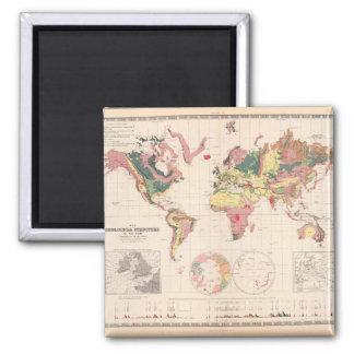 Olden World Map 30 Square Magnet