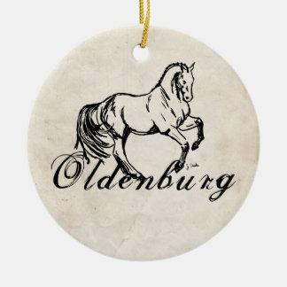 Oldenburg Horse Ceramic Ornament