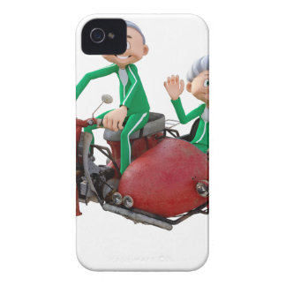 Older Couple on a Moped with Sidecar iPhone 4 Case-Mate Cases