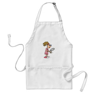 Older Tennis Lady Standard Apron