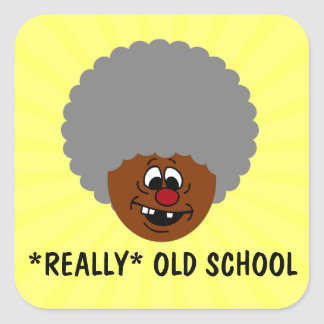 Older than dirt and proud of it senior citizen square sticker