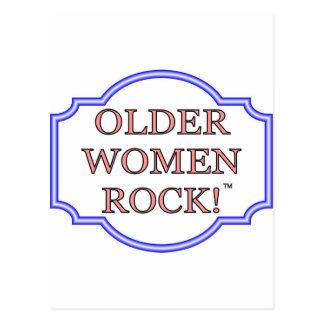 Older women rock postcard