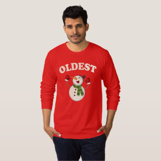 Oldest Brother Snowman T-shirt Pajama Family