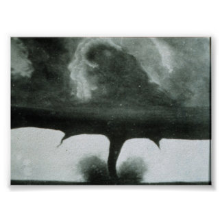 Oldest known photograph of a tornado poster