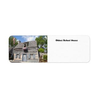 Oldest School House Return Address Label
