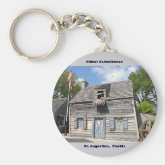 Oldest School House St. Augustine Fl Basic Round Button Keychain