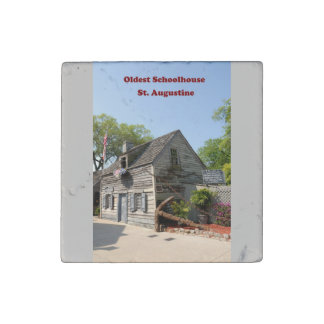 Oldest Wooden Schoolhouse Stone Magnets