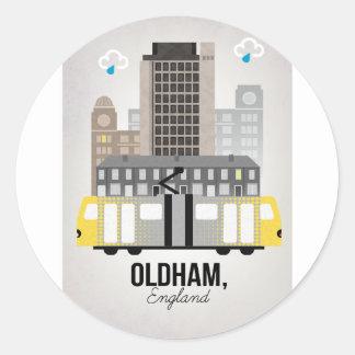 Oldham Classic Round Sticker