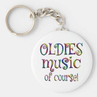 Oldies Music of Course Basic Round Button Keychain