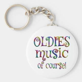 Oldies Music of Course Keychain