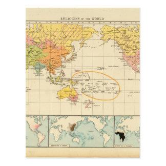 Oldish World Map 31 Postcard