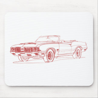 Olds 442 1970 conv mouse pad