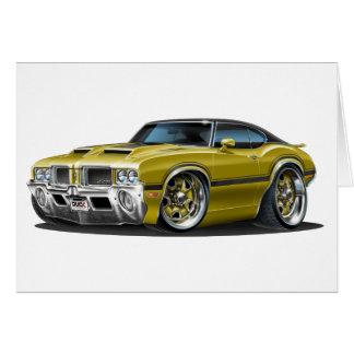 Olds Cutlass 442 Gold Car Card