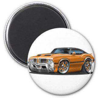 Olds Cutlass 442 Orange Car 2 Inch Round Magnet