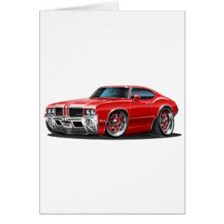Olds Cutlass Red Car Card