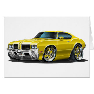 Olds Cutlass Yellow Car Card