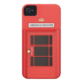 Oldschool British Telephone Booth iPhone 4 Covers