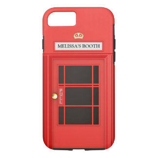 Oldschool British Telephone Booth iPhone 7 Case