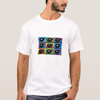 oldskool vinyl turntable t-shirt