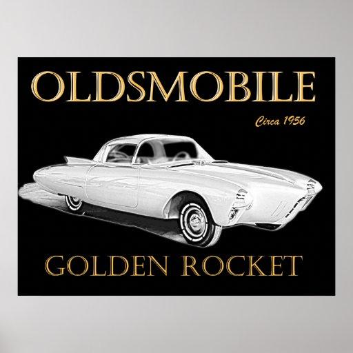 Oldsmobile Golden Rocket Poster