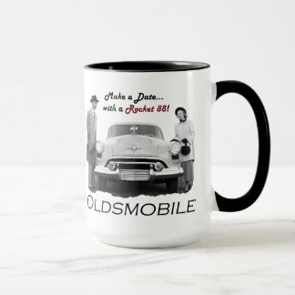 "Oldsmobile ""Make a date...with a Rocket 88!"" Mug"