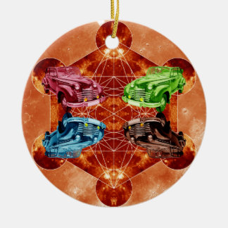 Oldsmobile Moon Ceramic Ornament
