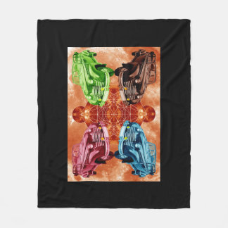 Oldsmobile Moon Fleece Blanket