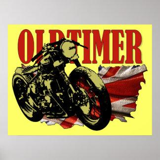 Oldtimer Bobber Poster