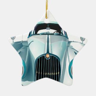 oldtimer car vintage automobile ceramic star ornament