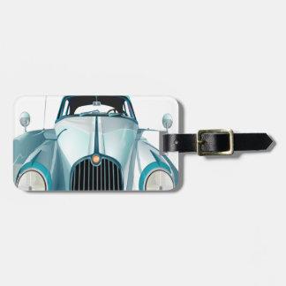 oldtimer car vintage automobile luggage tag
