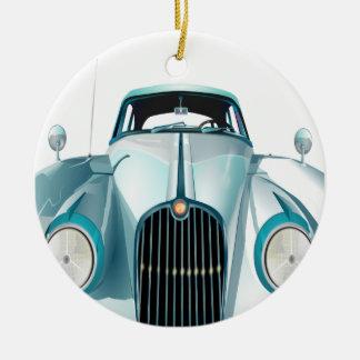 oldtimer car vintage automobile round ceramic ornament