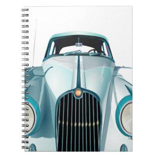 oldtimer car vintage automobile spiral note books