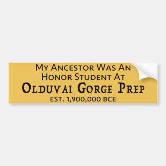 Olduvai Gorge Prep Bumper Sticker