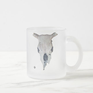 Ole Cow Skull Frosted Glass Coffee Mug