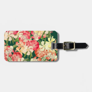 Oleander Floral Tropical Flowers Luggage Tag