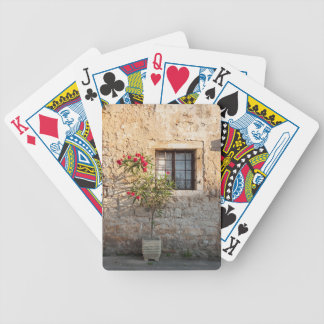 Oleander in Flower-pot, Croatia Bicycle Playing Cards