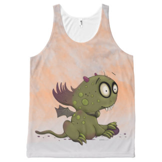 OLEZO MONSTER CARTOON All-Over Printed Unisex Tank