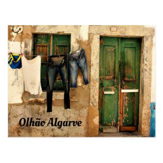 Olhao Doorway Postcard
