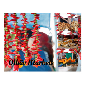Olhao Markets Postcard