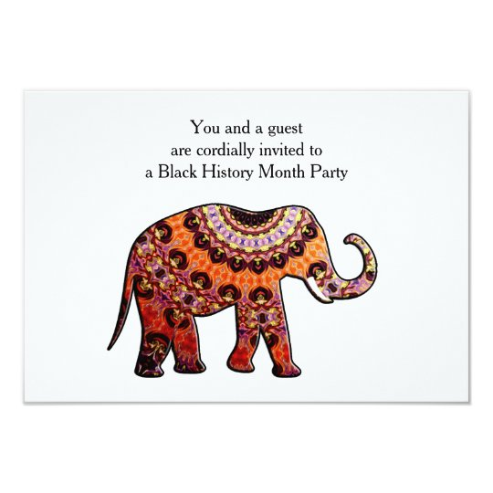 Olifant BHM Party Invitation