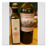 olio d'oliva e vino poster