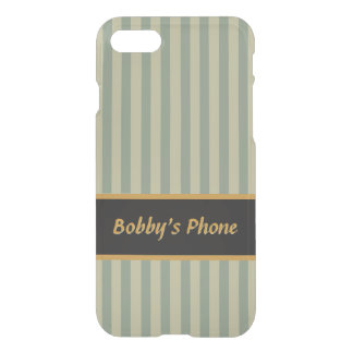 Olive and Beige Stripes - Classy Design iPhone 8/7 Case
