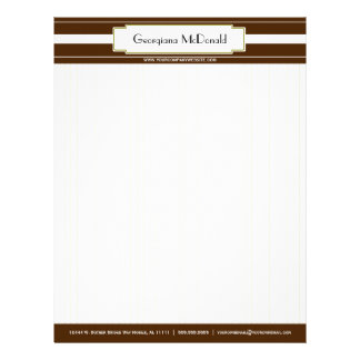 Olive and Brown Deluxe Letterhead