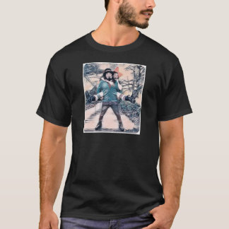 Olive and Dingo on the frozen stairs T-Shirt